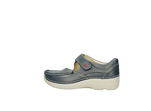 Wolky Comfort Mary Janes 06247 Roll Fever 80870 Blue Leather FaNOh