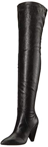 Kenneth Cole New York Women's Galway Over The Knee Slouch Boot, Black Leather, 8.5 M US