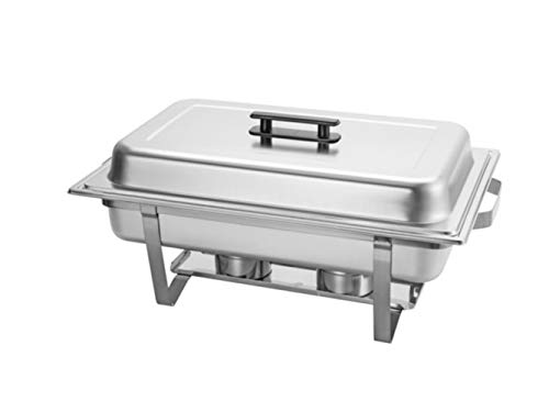 (8 Quart Full Size Buffet Banquet Chafing Dish Set With High Grade Stainless Steel Chafer With Cool Touch Handle, Catering Buffet Warmer (Complete set includes Food, Water, and Fuel Holder))