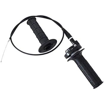 Poweka Black Throttle Handle and Grip Cable for ATV/ATC Dirt Mini Baja Mb165 Mb200 5.5/6.5hp 196cc 200cc Doodlebug Bike 52 Inch