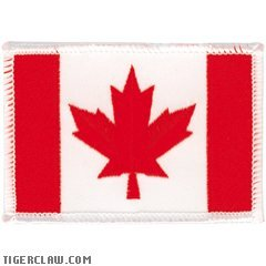 (Tiger Claw Patch - Canadian Flag Patch)