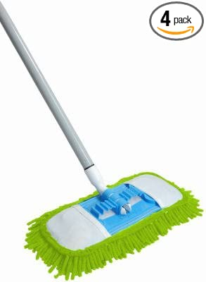 Microfiber Dust Mop Flexible Swivel Soft Machine Washable