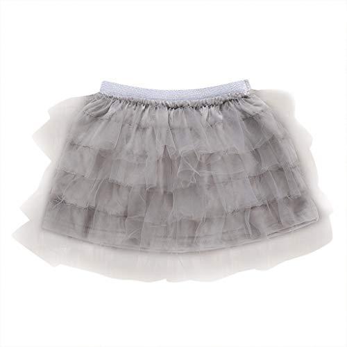 TEVEQ Girls Dress Tutu Skirt Solid Elastic Dance
