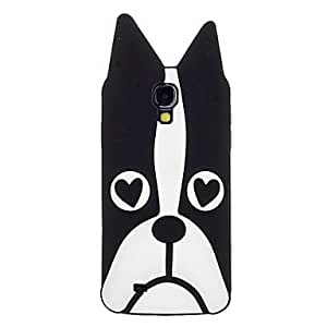 WEV Dog Face Feature Pattern Soft Silicone Protective Back Case for Samsung Galaxy S4 I9500