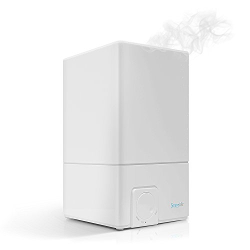 Serene Life Cool Mist Ultrasonic Humidifier | 4.1L Large Capacity | Whisper Quiet Operation | Auto Shut-Off W Adjustable Mist Moisture Control | Allergy Relief for Home, Office, Babyroom (PSLHUM60)