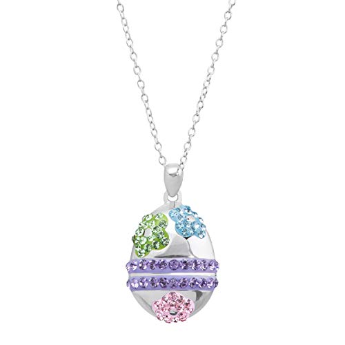 Crystaluxe Easter Egg Pendant Necklace with Swarovski -