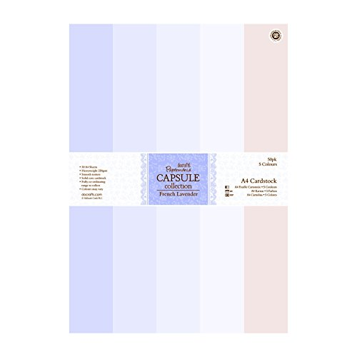 Papermania French Lavender A4 Cardstock 50/Pkg-5 Colors by DOCrafts