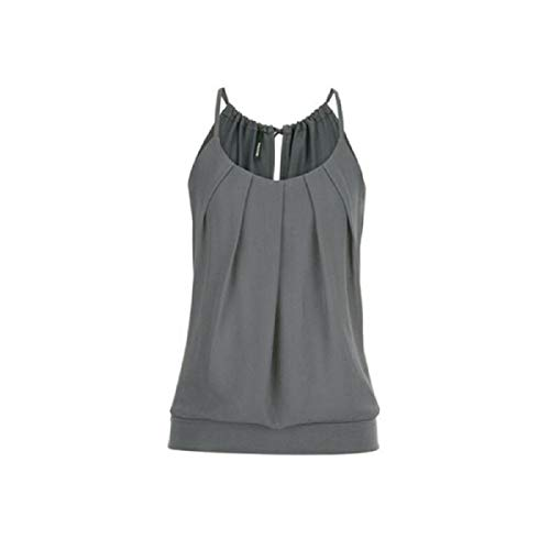 Tops for Women LJSGB Ladies O Neck Tops Ladies Strappy Top Ladies Tank Tops Casual Bluse Ladies Boutique Tops Bluses Gray
