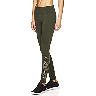 Reebok Womens Fleece Lined Leggings - Ladies Gym Workout & Running Pants