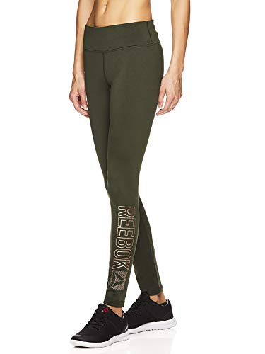 (Reebok Women's Legging Full Length Performance Compression Pants - Pop Nouveau Dufflebag,)