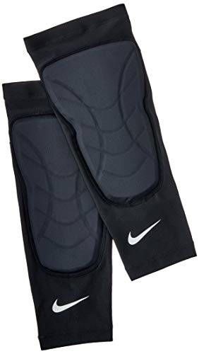 Caneleira Basquete Padded Shin Sleeves (Pares) Nike G/GG Black/White