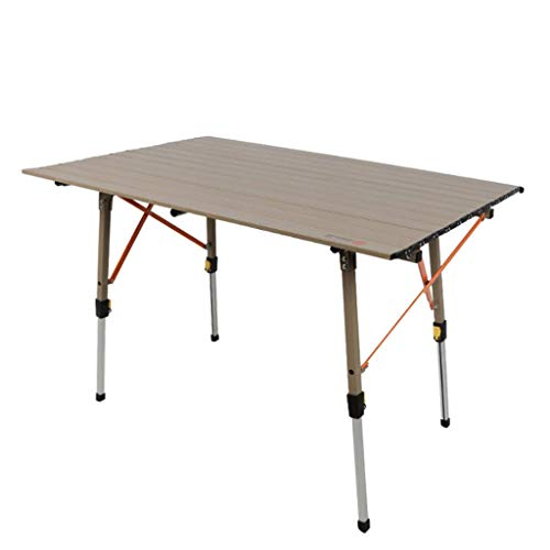 - GWM Book Stands Outdoor All-Aluminum Folding Table, Picnic Camping Barbecue Table, Portable Stall Propaganda Table, Rectangular Table, Height Adjustable, 120x70x(30-70) cm
