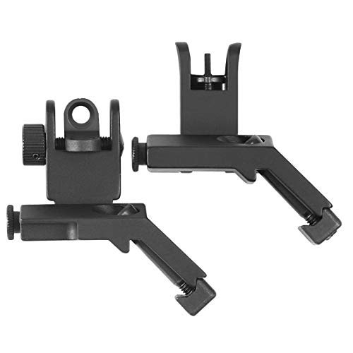 OTW Flip Up Sight 45 Degree Offset Rapid Transition Front and Backup Rear Sight Iron - 15 Ar Front