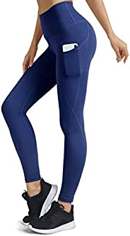 BROMEN Women's High Waisted Yoga Pants with Pockets Leggings for Women Buttery Soft Work Out Pants Tummy Contr