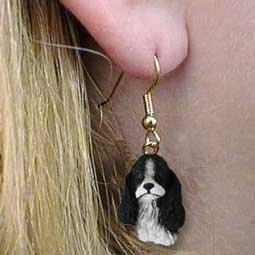 - Conversation Concepts Cocker Spaniel Black & White Earrings Hanging