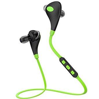 Bluetooth Headset, Bekhic HIFI-MK5 HIFI Wireless V4.1 Mini Lightweight Wireless Stereo Sports/running & Gym/exercise Bluetooth Headphones Headsets With Mic Microphone (Green)