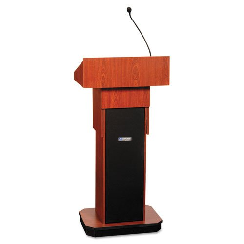 (AmpliVox - Executive Adjustable Sound Column Lectern, 21w x 15d x 46-1/2h, Mahogany S505A-MH (DMi EA)