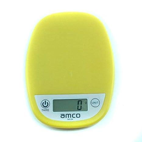 amco Básculas de cocina digitales, 5kg / 11lb, báscula electrónica de cocina, balanzas