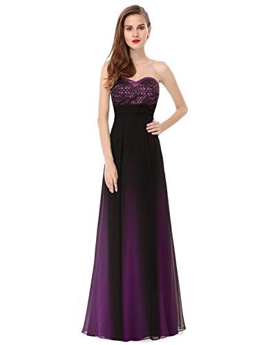 Ever-Pretty - Vestido - para mujer morado