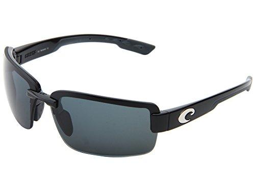 Costa Del Mar Galveston Sunglasses Black / Gray 580Plastic
