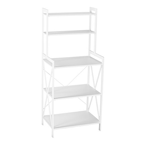 Furniture Hotspot - 5 Tier White Bakers Rack - 28