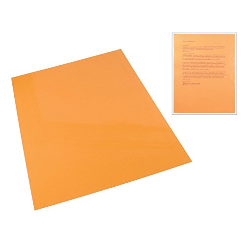 Plastic Reading Tinted (Orange Tinted Plastic Reading Sheet)