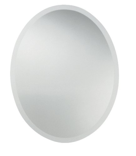 Uttermost Oval Wall Mirror, Size Medium - White