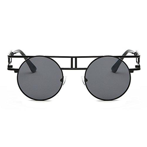 G&T Retro Vintage Style Gothic Steampunk Metal Frame UV Reflective - Sunglasses Optics Pacific