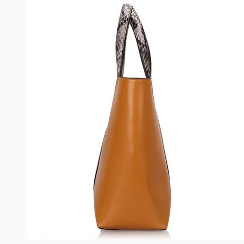 Fineplus Women's European Fashion Large Vintage Snake Leather Hobo Tote Handbag Buyb180
