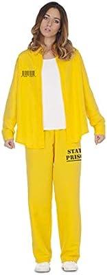 My Other Me Disfraz de Presidiaria Amarilla para Mujer: Amazon.es ...