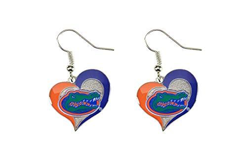 Florida Heart - NCAA Florida Gators Swirl Heart Earrings