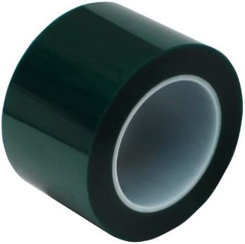 "High Temperature 4/"" x 72 yds 2 Mil Green Powder Coating Masking Tape"