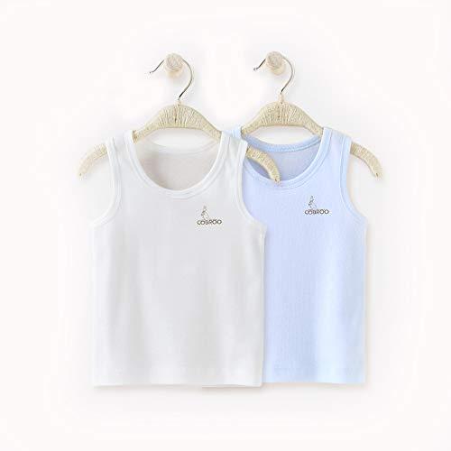 Baby Cotton Undershirt (COBROO Newborn Baby Boy Tank Tops Cotton Sleeveless 2-Pack Cami Undershirt 12-24M Toddler)