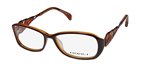 Koali 6920k Womens/Ladies Prescription Ready Classy Designer Full-rim Eyeglasses/Eyeglass Frame (53-15-135, Brown / Copper / - Rimless Eyeglass Frames Top