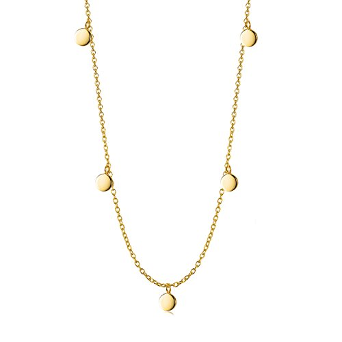Disc Choker Necklace in 18k Gold over Sterling Silver 13