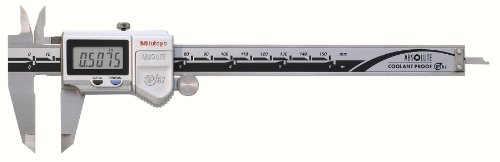 Mitutoyo 500-752-10 Digital Calipers, Battery Powered, Inch/Metric, for Inside, Outside, Depth and Step Measurements, Stainless Steel, 0''/0mm-6''/150mm Range, +/-0.001''/0.01mm Accuracy, 0.0005''/0.01mm Resolution, Meets IP67 Specifications by Mitutoyo