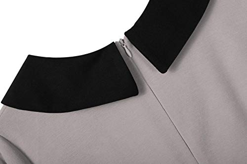 Dames Manches 3 Gray Casual Robe Femme 4 Bouton Col de Slim Imposes V lgant tHxaqtU