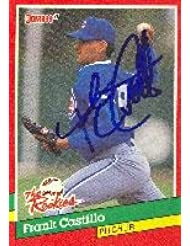 Frank Castillo Charlotte Knights - Cubs Affiliate 1991 Donruss The Rookies Autographed Card - Minor League Card. This item comes with a certificate of authenticity from Autograph-Sports. Autographed