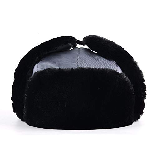 92af665c293 Amazon.com  DHmart Men s Bomber Hats Warm Faux Fur Russian Warterproof Snow  Caps with Earflap for Men Outdoor Thick Classic Male Hat  Kitchen   Dining
