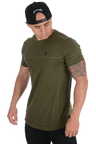 YoungLA Mens Workout Casual T Shirt Gym Fitness tees Stylish 406 OLV M Olive