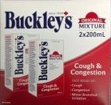 BUCKLEYS Original COUGH CONGESTION Syrup Large 200 ml Size 2 Pack