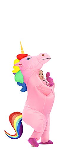 GOPRIME Sale Now !! Unicorn Costume Horn Horse Inflatable Suit (Rainbow Small)]()