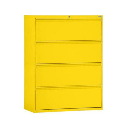 Sandusky Lee LF8F424-EY 800 Series 4 Drawer Lateral File Cabinet, 19.25″ Depth x 53.25″ Height x 42″ Width, Yellow