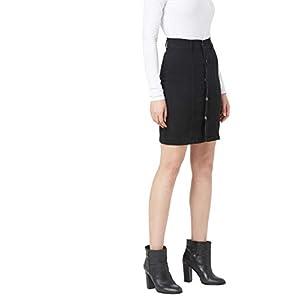 Miss Chase Women's Black A-line Mini Denim Skirt