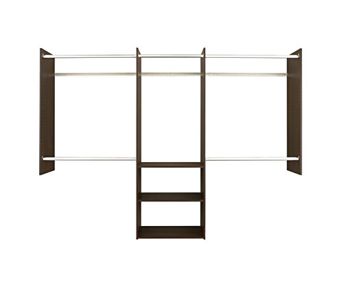 Easy Track 4'-8' Deluxe Starter Kit Closet Storage, Truffle ()