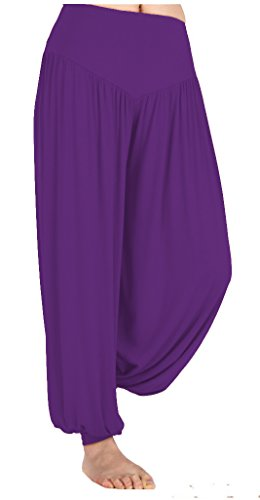 TownCat Women's Modal Casual Loose Yoga Jogger Pants Baggy Harem Dancing Long Pants (XL, Purple) (Harem Pants Purple)