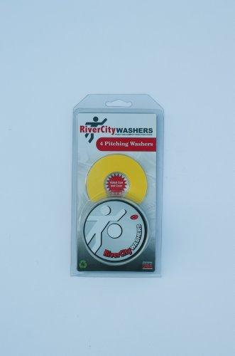 RiverCity Pitching Washers: (4) Yellow 2.5 Inch Washers