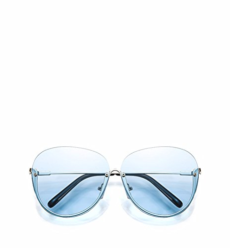 moda vanguardia ningún gafas sol El azul nuevo de cuadro de delgado transparente de gafas Rosa personalizado video El XIAOGEGE 8HqSR