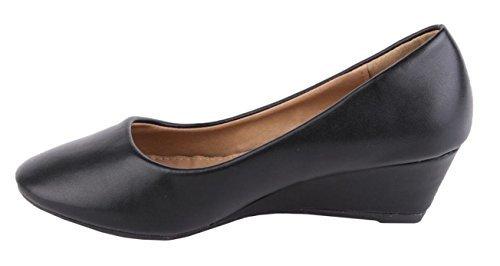 tacón P39 Zapatillas tacón sintética CRAZY para bajo Jane mujer y cordones piel Mary en sin negro con Pumps SHU RvqfTpnwq