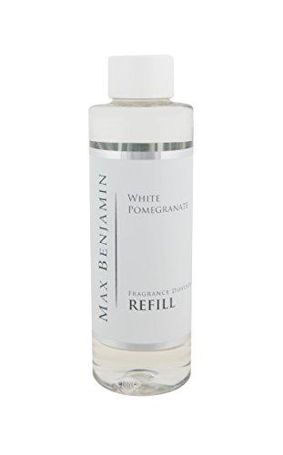 遺伝的に応じて立場Max Benjamin リードディフューザー詰め替えオイル - 白 ポメラネート 150ml。 最大16Wの香り。 安全な無炎で一定の香り。